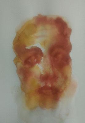 Layali Alawad, Aquarell, Portrait 2