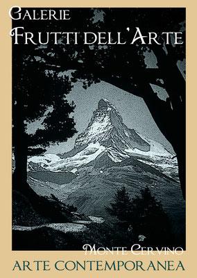 Plakat Entwurf acht, Matterhorn, Aachener Kunstroute am 23.,24.und 25.September