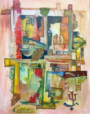 Ibrahim Alawad, Malerei, Acryl auf Leinwand 8 , Aachener Kunstroute 2019