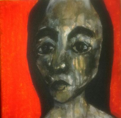 Layali Alawad, Acryl auf Leinwand, Portrait 7