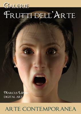 Plakat Entwurf sieben, Anblick der Medusa, Aachener Kunstroute am 23.,24.und 25.September