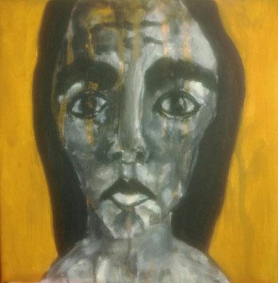 Layali Alawad, Acryl auf Leinwand, Portrait 8
