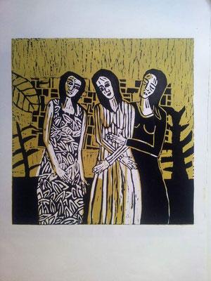 Layali Alawad, Linolschnitt, Familie 6