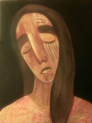 Layali Alawad, Acryl auf Leinwand, Portrait 5