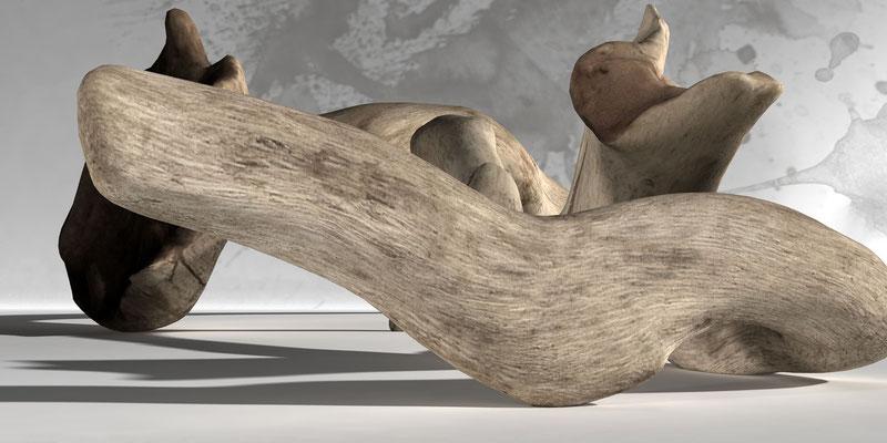 Driftwood 5, digitl art 3d, Marcus Löhrer auf der Aachener Kunstroute 2019