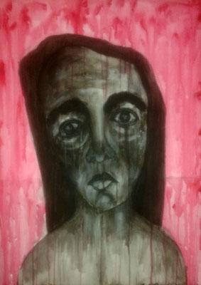 Layali Alawad, Acryl auf Leinwand, Portrait 10