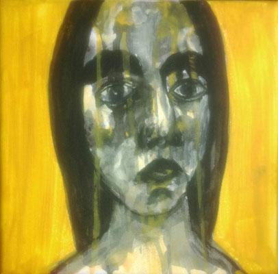 Layali Alawad, Acryl auf Leinwand, Portrait 9
