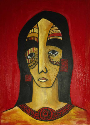 Layali Alawad, Acryl auf Leinwand, Portrait1