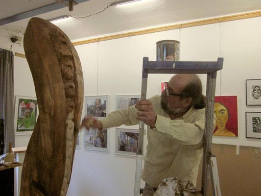 Ibrahim Alawad, Aachener Kunstroute 2016, finishing skulpture 3