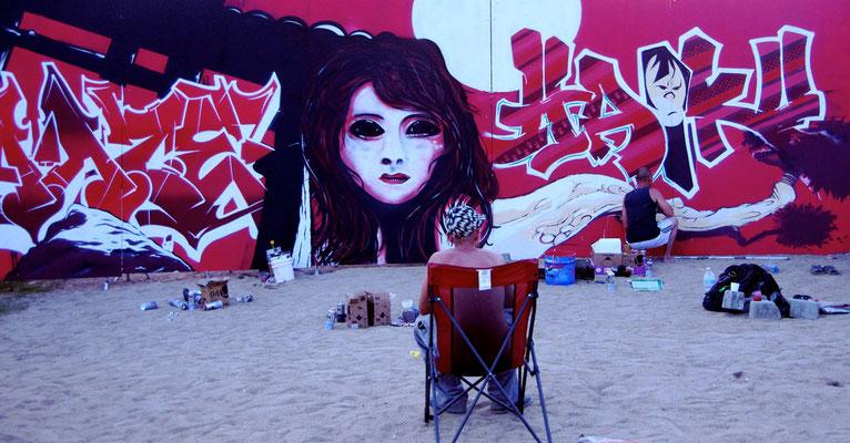Graffiti, Fotografie von Eva Maria Henning-Bekka auf der Aachener Kunstroute 2016