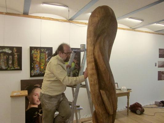 Ibrahim Alawad, Aachener Kunstroute 2016, finishing skulpture 4