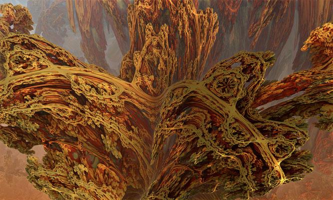 Mandelbulb, große Landschaft vier. Marcus Löhrer auf der aachener Kunstroute 2016.