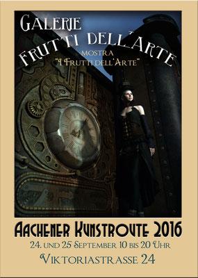 Plakatmotiv Steampunk, Aachener kunstroute 2016