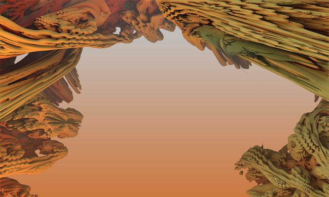 Mandelbulb, große Landschaft elf. Marcus Löhrer auf der aachener Kunstroute 2016.