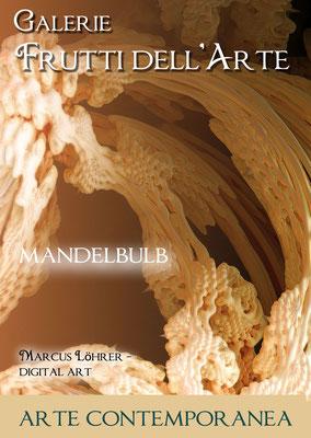 Plakat Entwurf sechs, Mandelbulb, Aachener Kunstroute am 23.,24.und 25.September