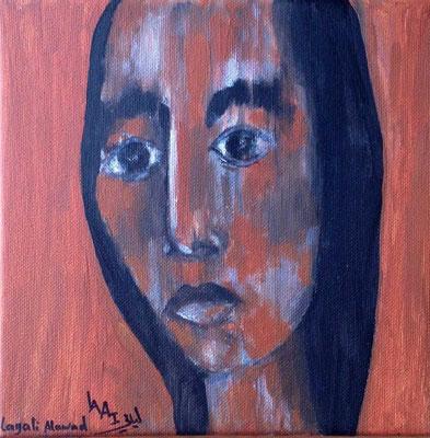 Layali Alawad, Acryl auf Leinwand, Portrait 15