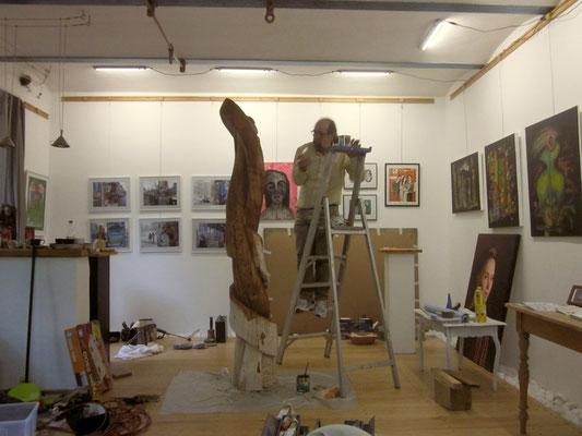 Ibrahim Alawad, Aachener Kunstroute 2016, finishing skulpture 2