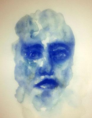 Layali Alawad, Aquarell, Portrait 4