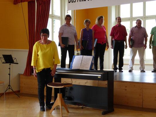 Dirigentin Verena An den Matten Hidber in Aktion