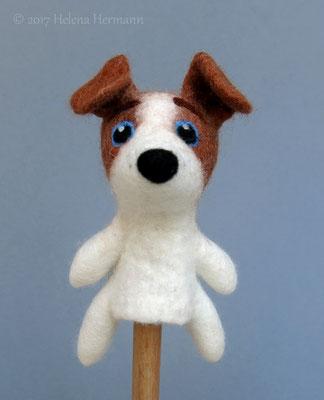 Gefizte Fingerpuppe Hund, 2017