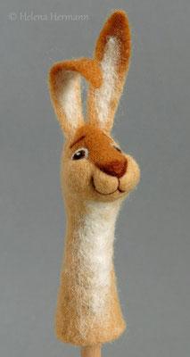 Gefilzte Fingerpuppe Hase, 2016