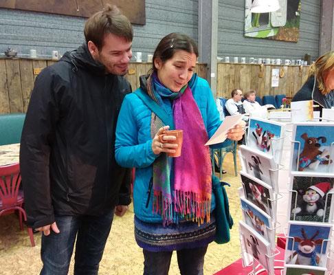 Weihnachtsmarkt, BaseCamp Bonn, 2017. Reaktion auf die Postkarten :-)