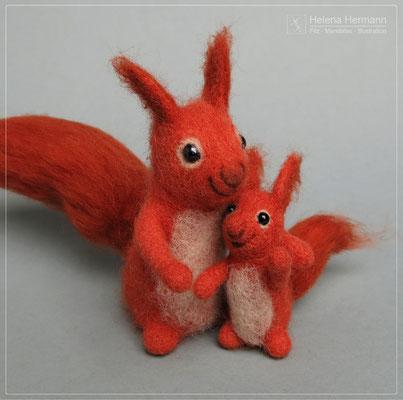 Eichhörnchen, handgefilzt, 2020