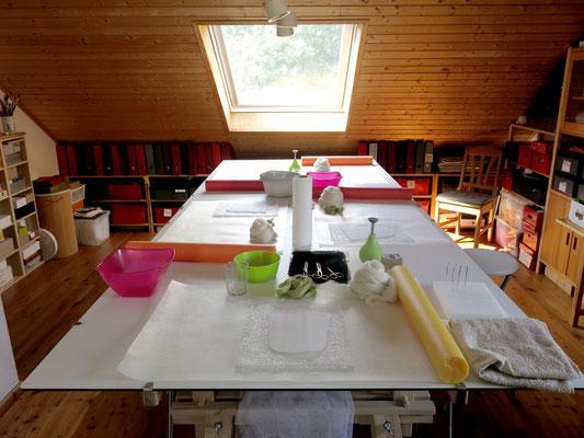 Windlichter-Workshop am 9.9.2017: Alles bereit für den Workshop