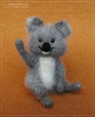 Koala, handgefilzt, 2019