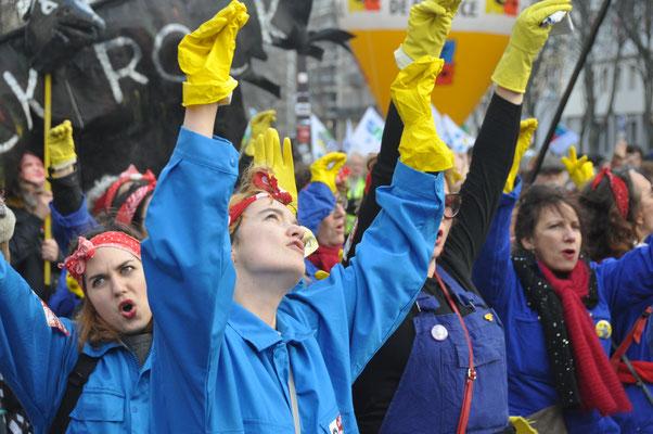 29 janvier 2020 manifestation contre la réforme des retraites.