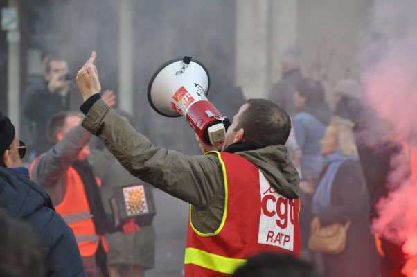 16 janvier 2020 manifestation contre la réforme des retraites.