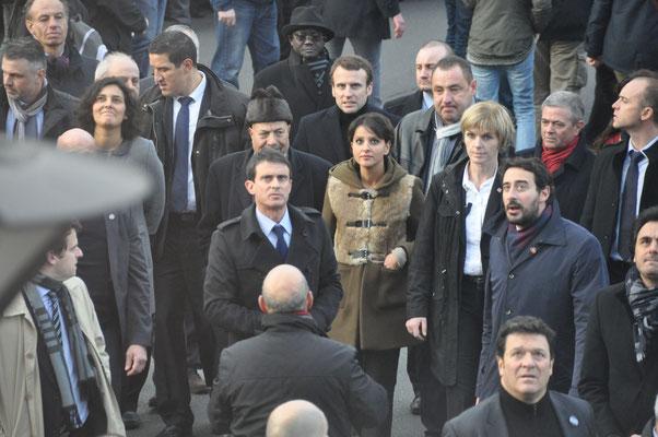 mercredi 18 novembre 2015 Charlie. Emanuel Macron, Manuel Vals