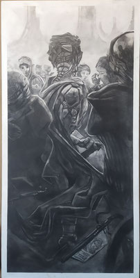 2020 - Assassin - Charcoal on MDF board