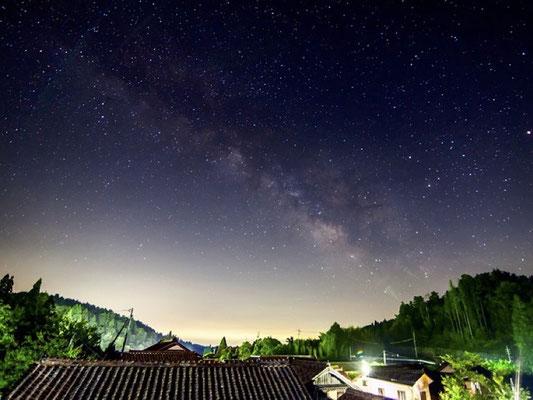 満点の星空@岡山県高梁市・吹屋ふるさと村