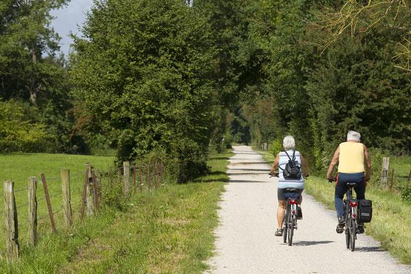 sur la vélo route voie verte de Thiérache
