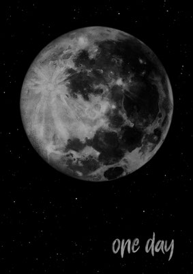 Reis zom Mond Poster A2