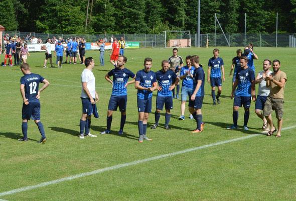 Die Spieler nach dem Finale.