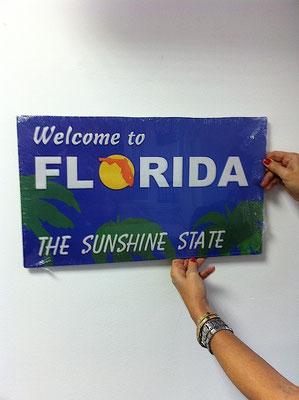 Metallschild Florida