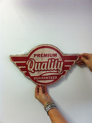 Metallschild Premium Quality