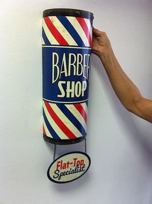 Metallschild Barber shop Flat Top