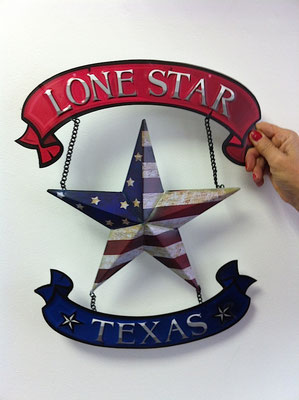 Metallschild Texas star