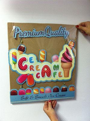 Metallschild Ice cream Premium Quality