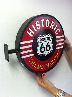 Metallschild Route 66 Wall sign