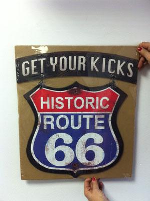 Metallschild Get your kicks on Rour 66