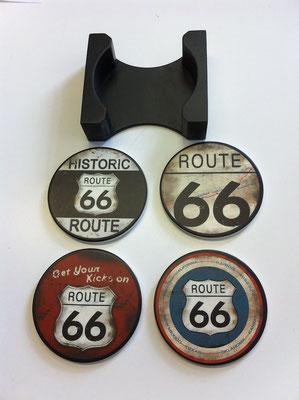 Untersetzer Route 66