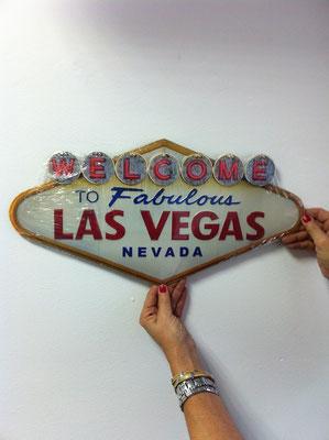 Metallschild  Las Vegas