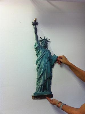 Metallschild Liberty New York