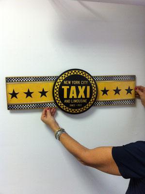Metallschild New York Taxi sign