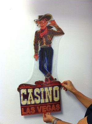 Metallschild Las Vegas casino