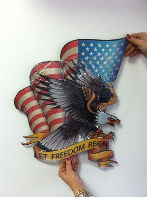 Metallschild Free Eagle